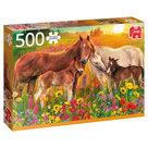 Jumbo-legpuzzel-paarden-in-de-wei-500-stukjes