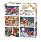 King-legpuzzel-Christmas-Collection-5-puzzels-1000-stukjes