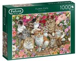 Falcon-Legpuzzel-Floral-Cats-1000-stukjes