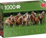 Jumbo-legpuzzel-Haflinger-Horses-panorama-1000-stukjes