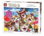 King-Legpuzzel-Katten-Selfie-1000-Stukjes