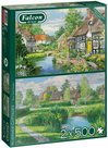 Falcon-legpuzzel-Riverside-Cottages-2-x-500-stukjes