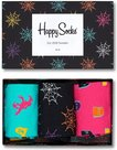 Happy-socks-Halloween-giftbox-3pack-zwart-rose-groen-XHAL089000