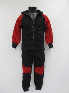 Fashion wear joggingpak junior g207 zwart rood