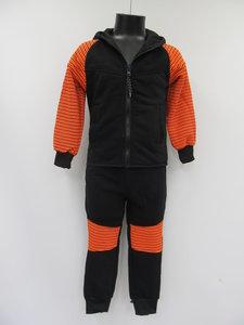 Fashion wear joggingpak junior g207 zwart oranje