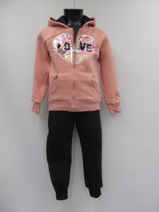 Hello girl joggingpak meisjes love rose zwart ah80679