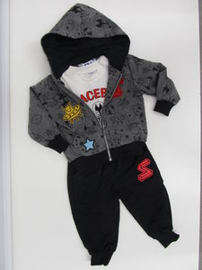 Sweet junior joggingpak 3 delig baby donkergrijs z623