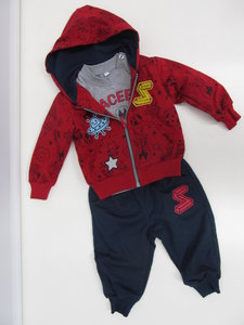 Sweet junior joggingpak 3 delig baby rood z623