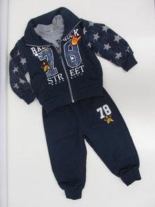 Sweet junior joggingpak 3 delig baby navy z636