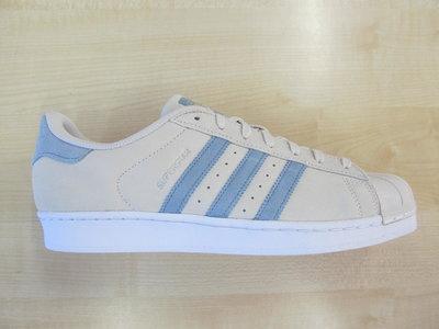 Adidas superstar beige blauw bz0195