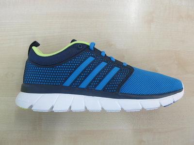 Adidas cloudfoam groove navy blauw geel aq1427