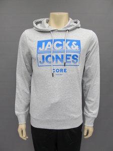 Jack en Jones jcovulture sweat hood lichtgrijs blauw 12158328