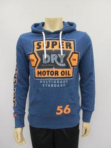 Superdry sweat shirt heritage classic lite hood skate navy m20990nta7q
