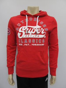 Superdry sweat shirt heritage classic lite hood eagle red m20990nta7z