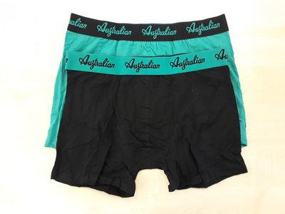 Australian boxershorts 2 pack groen zwart aus1604