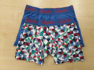 Australian boxershorts 2 pack print blauw aus1602