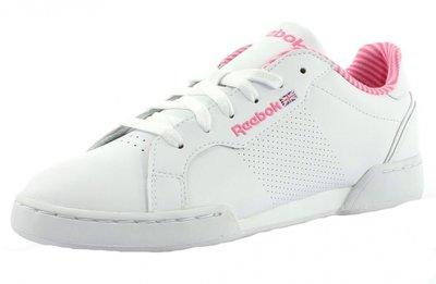 Reebok sneaker classic court wit roze V71098