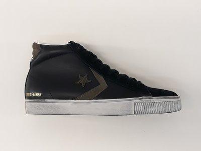 Converse pro leather vulc distressed mid black chocolate chip 158923C