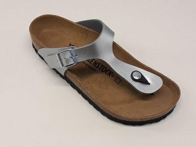 Birkenstock Gizeh zilver normaal voetbed 043851