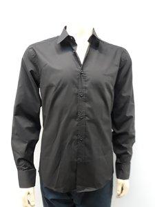 Pierre Cardin heren overhemd zwart GA203615MNPA
