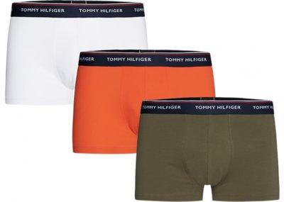 Tommy Hilfiger boxershorts 3pack grijs oranje wit 1U879038420XS