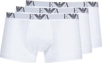 Emporio Armani boxershorts heren 3pack stretch cotton wit