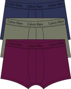 Calvin Klein boxershorts 3pack low rise trunk navy army groen bordeaux U2664GWFL