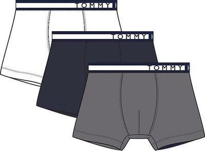 Tommy Hilfiger boxershorts 3pack wit navy grijs UM0UM01234599