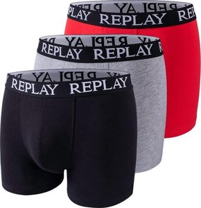 Replay boxershorts 3pack rood grijs zwart 1101102V001N176