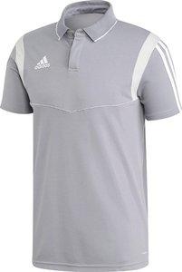 Adidas tiro 19 cotton polo heren grijs DW4736