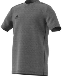 Adidas core 18 tee junior donkergrijs FS3250