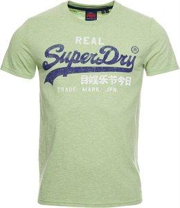 Superdry vintage logo premium goods tee groen M1010158A