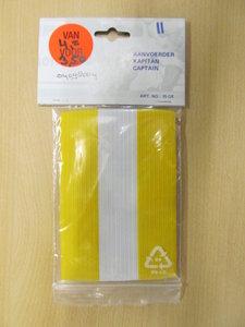 Schreuder Kapitan aanvoerdersband geel wit 75OE