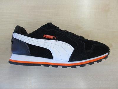 Puma st runner sd junior zwart wit oranje 36207605