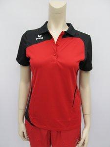 Erima polo club 1900 dames rood zwart 111342