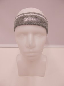 Craft hoofdband grijs wit 19033422950