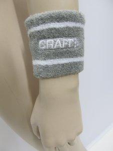 Craft zweetband pols 2 stuks grijs wit 19033412950