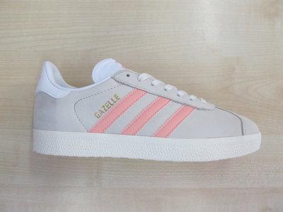 Adidas gazelle dames chalk beige zalmroze by9035