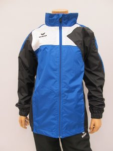Erima premium one rain jacket junior new royal zwart wit 105421