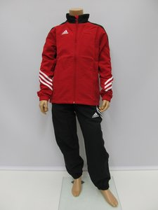 Adidas sereno 14 presentatie trainingspak junior rood zwart d82935