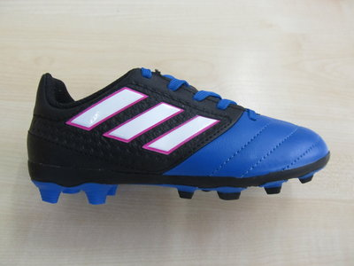 Adidas ace 17 4 fxg junior zwart wit blauw bb5592