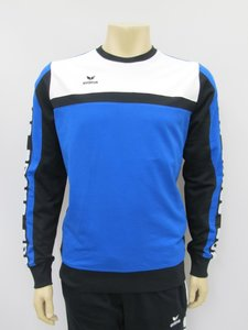 Erima classic 5 cubes series sweatshirt new royal zwart wit 107510