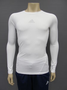 Adidas alphaskin thermoshirt longsleeve wit cw9487